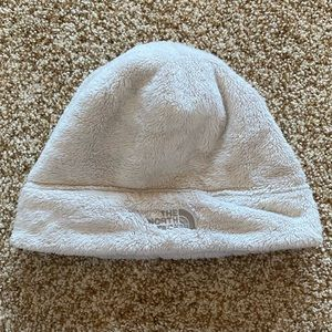 The North Face Cream Fuzzy Beanie